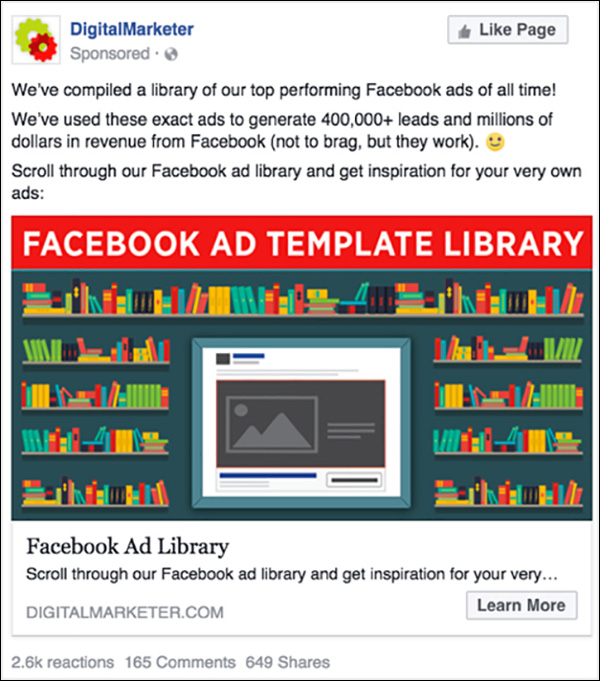 Facebook Ad Template Library Facebook ad