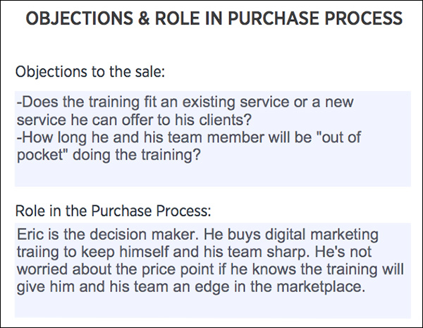 Customer Avatar: Objections & Role in The Purchase Process