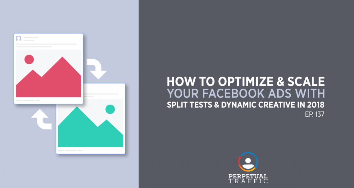 optimize facebook ad with split tests and dynamic creative 2018