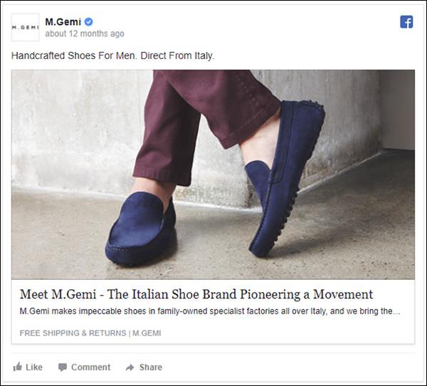 M.Gemi Facebook ad