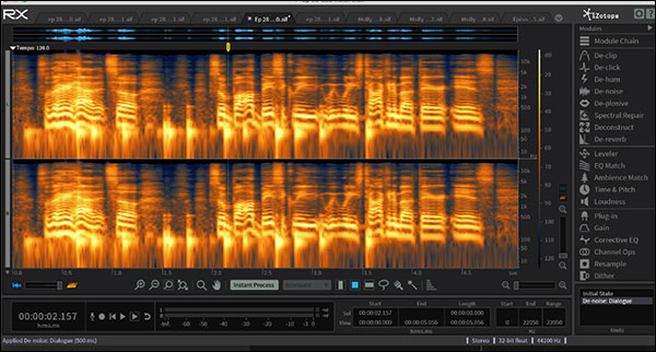 "An example of a file cleaned up using Izotope RX. This is the ""before"" image"