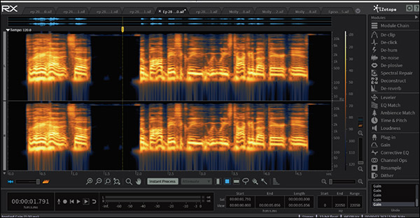 "An example of a file cleaned up using Izotope RX. This is the ""after"" image"