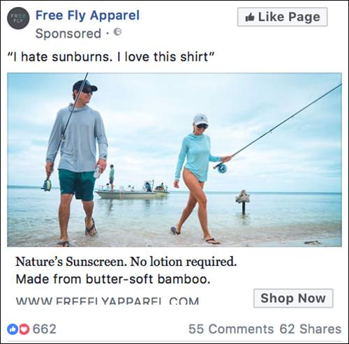 Free Fly Apparel Facebook ad