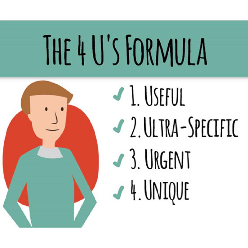 Image of the 4 U's copywriting formula