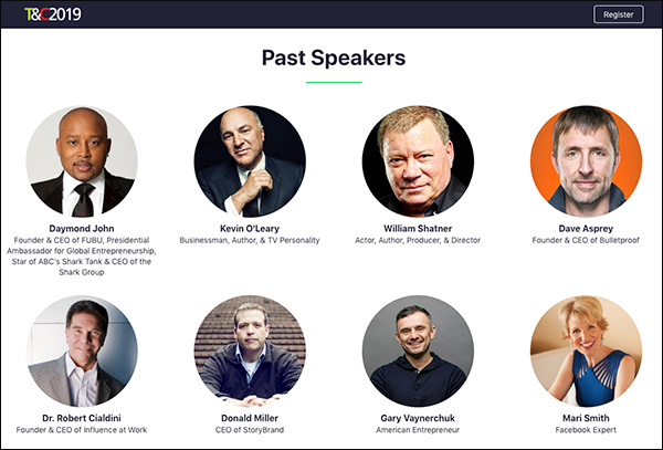 Past speakers of Traffic & Conversion Summit