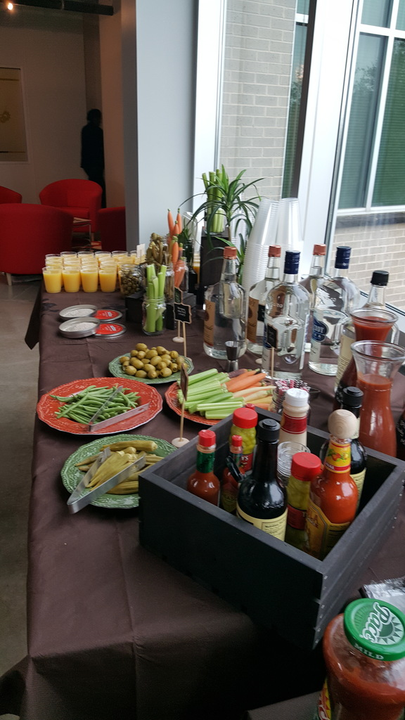 A sweet & savory Bloody Mary spread courtesy of the Events team