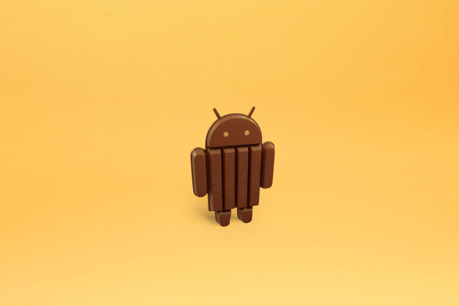 Android 4.4 code named 'KitKat,' co-promoted with Nestle