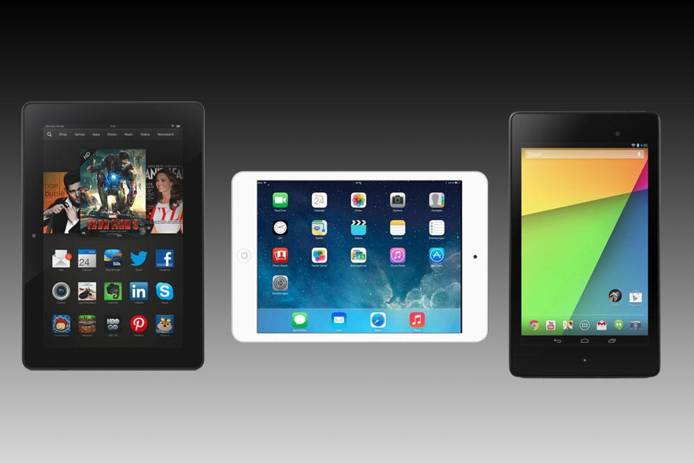 Apple Ipad Vs Kindle: IPad Mini 2 Vs. Nexus 7 Vs. Kindle Fire HDX: Spec