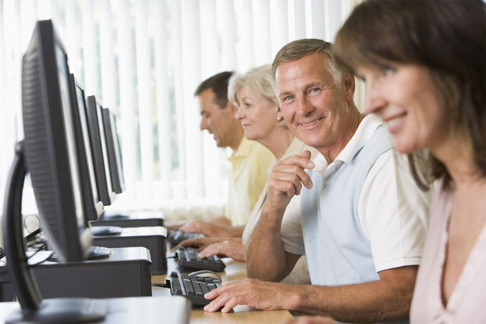 Computer technology in adult education share