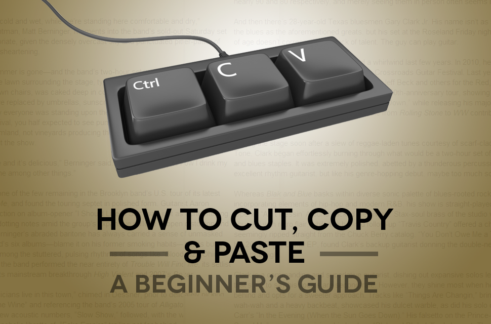 How to copy and paste