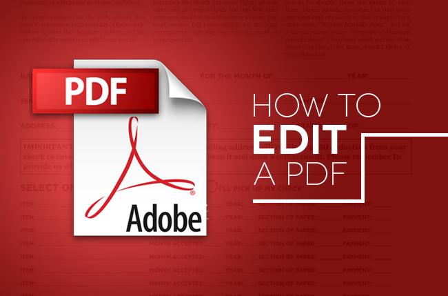Edit pdf free best 2014