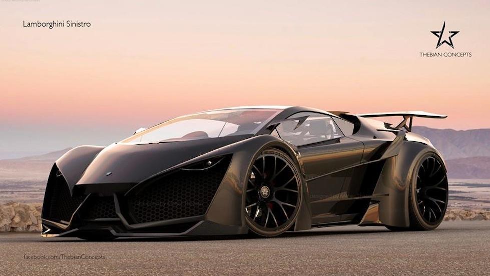 Thebian Concepts' Lamborghini Sinsitro Black Spec ...