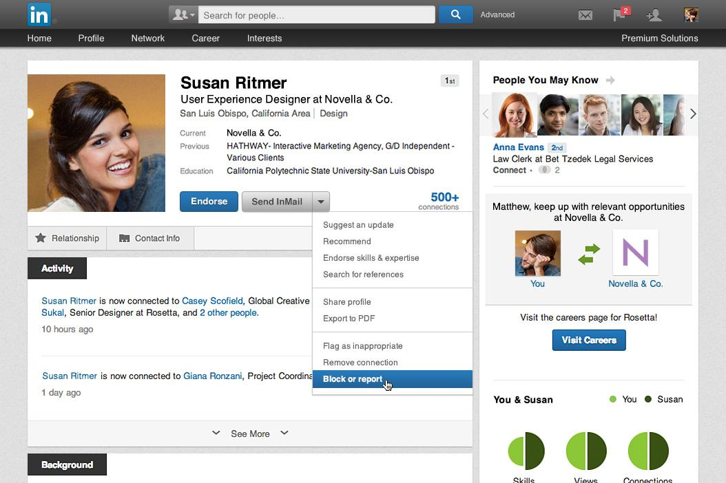 LinkedIn: LinkedIn Finally Starts Fighting Stalkers With Member