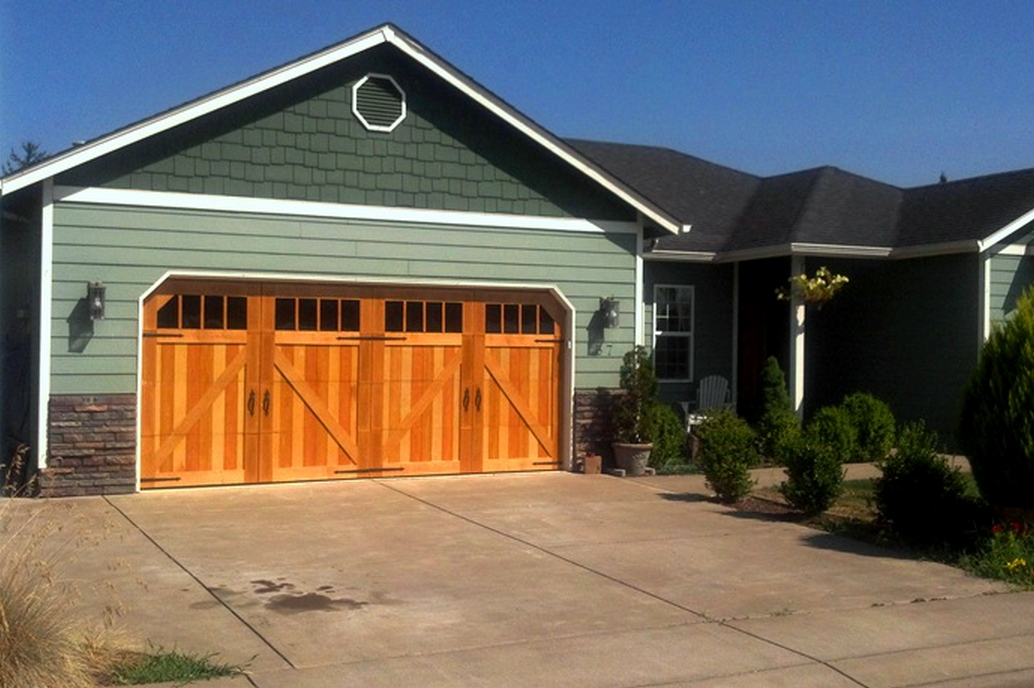 Give Your Boring Garage Door A Makeover With These Wooden