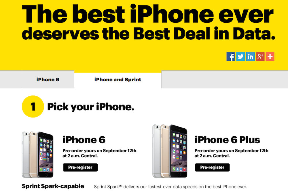 sprint iphone 6 plus plan sprint launches 70 a month iphone for lease plan 18031