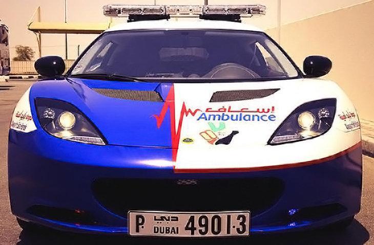 Dubai Paramedics Get Lotus Evora Two Ford Mustangs