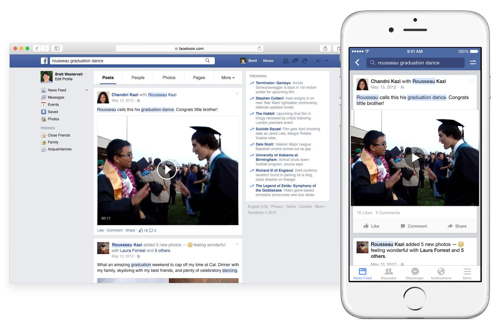 Facebook Search Now Lets You Relive All Your Old Status