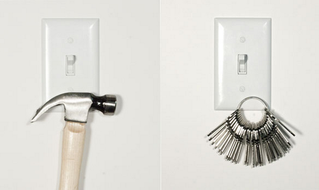 Neocover Magnetic Light Switch Covers Keep Keys Safe