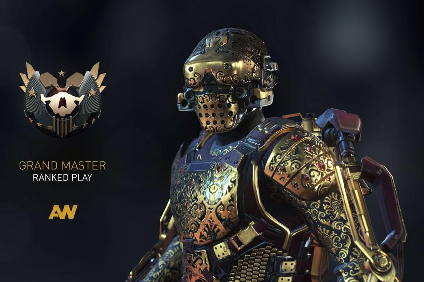 Top 100 Advanced Warfare Players To Get Golden Armor Set ...