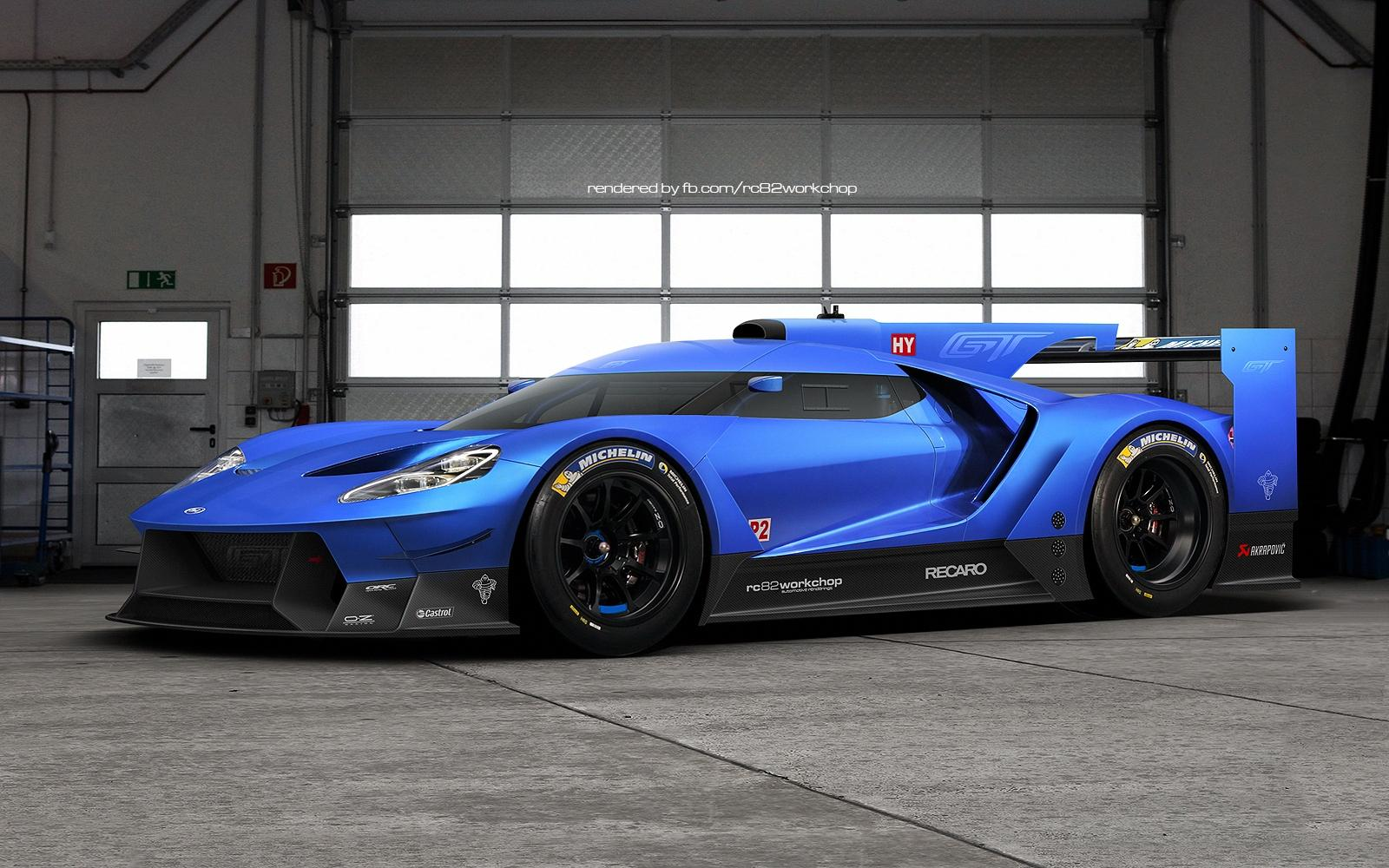 ford gt rendering could preview future le mans car. Black Bedroom Furniture Sets. Home Design Ideas