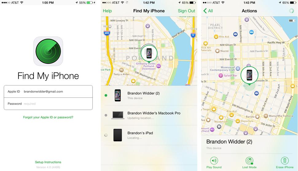 how to open find my iphone on mac