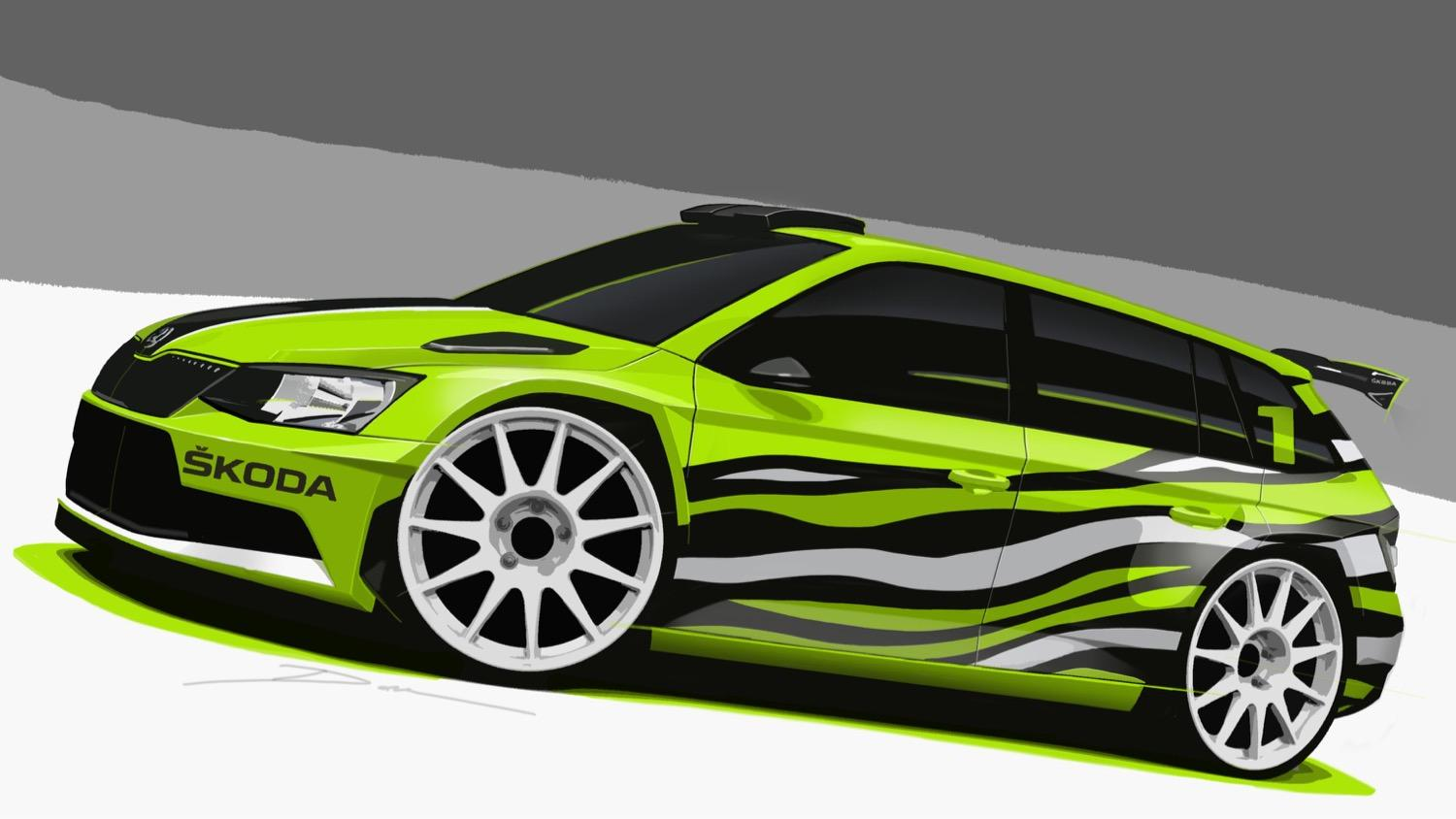 skoda s fabia combi r5 concept hulks out with rally car. Black Bedroom Furniture Sets. Home Design Ideas