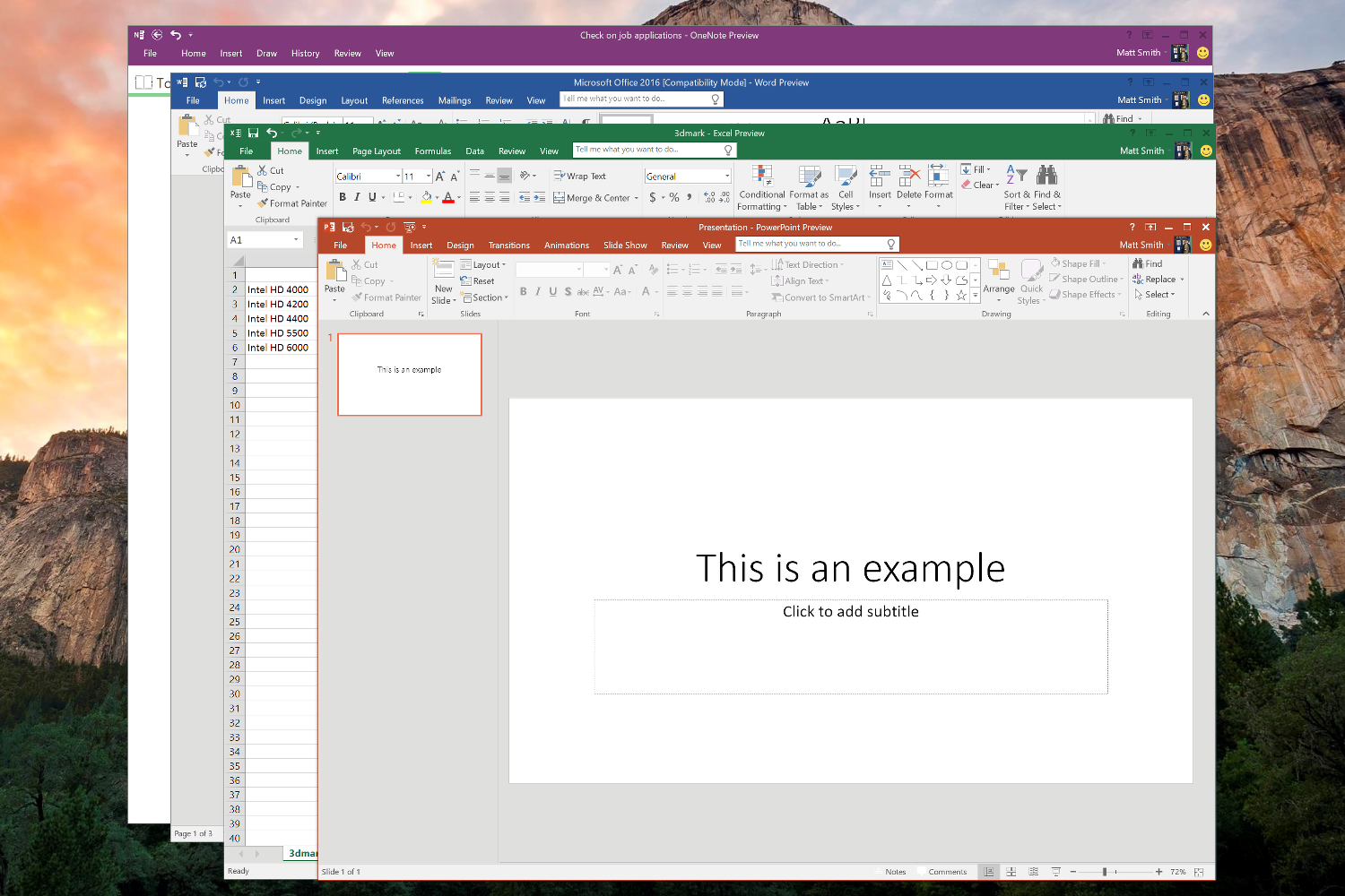 Technology Management Image: A First Look At The Microsoft Office 2016 Preview