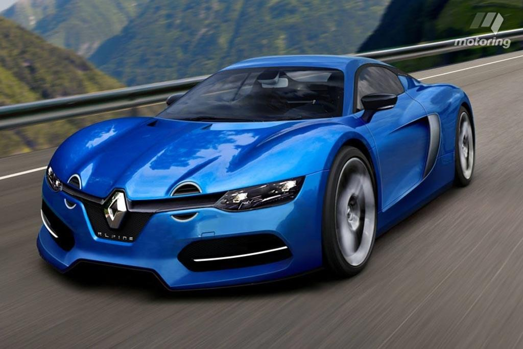 could this rendering preview renault s retro inspired alpine sports car. Black Bedroom Furniture Sets. Home Design Ideas