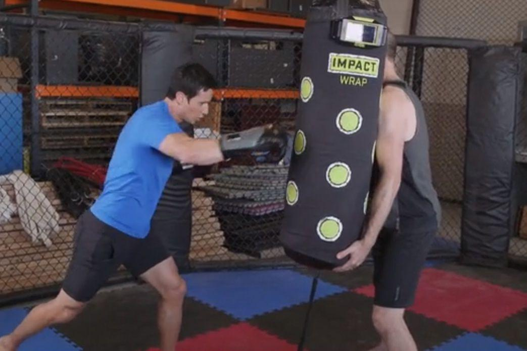 make any dumb heavy bag smart with the impact wrap. Black Bedroom Furniture Sets. Home Design Ideas
