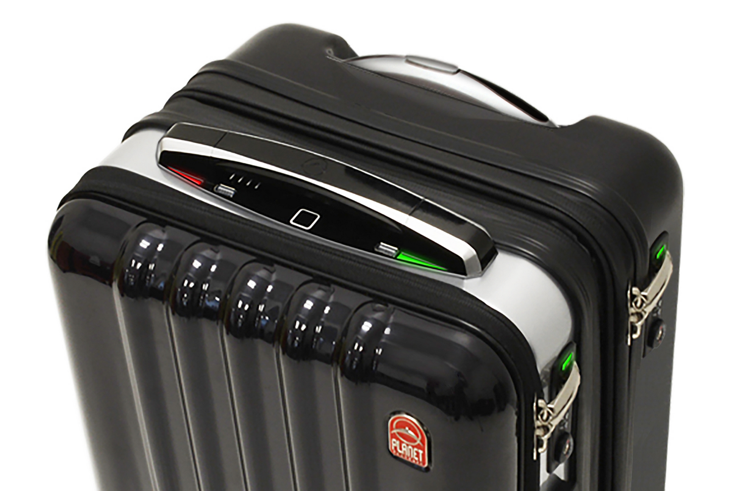 This Space Age Suitcase Boasts Gps Biometric Locks And A