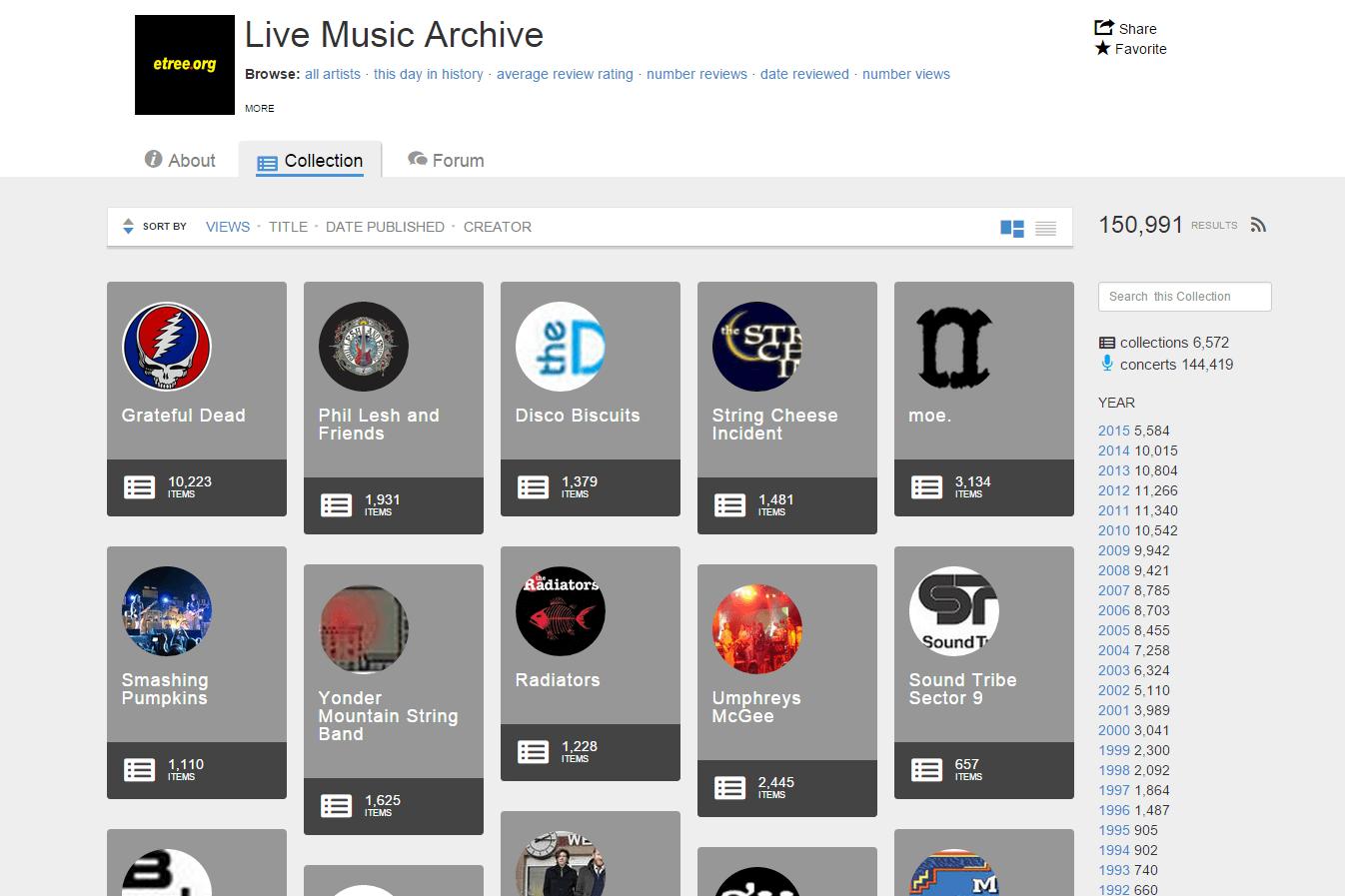 music archive live legal totally digital slideshow digitaltrends