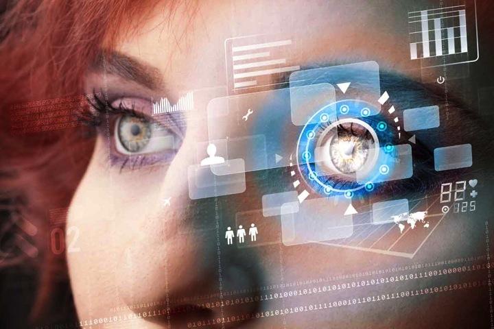 An Ultra Wide Digital Retinal Scan Of A Human Eye Showing ...  Digital Retinal Scan