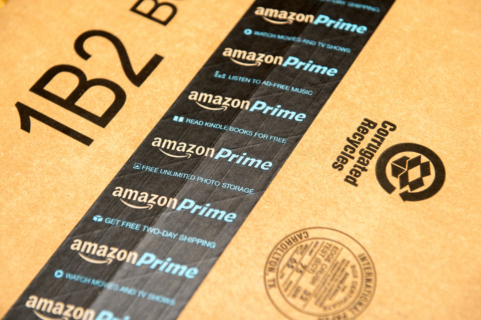 Box Label: Sprint Customers Now Can Get 60 Days Of Amazon Prime For Free