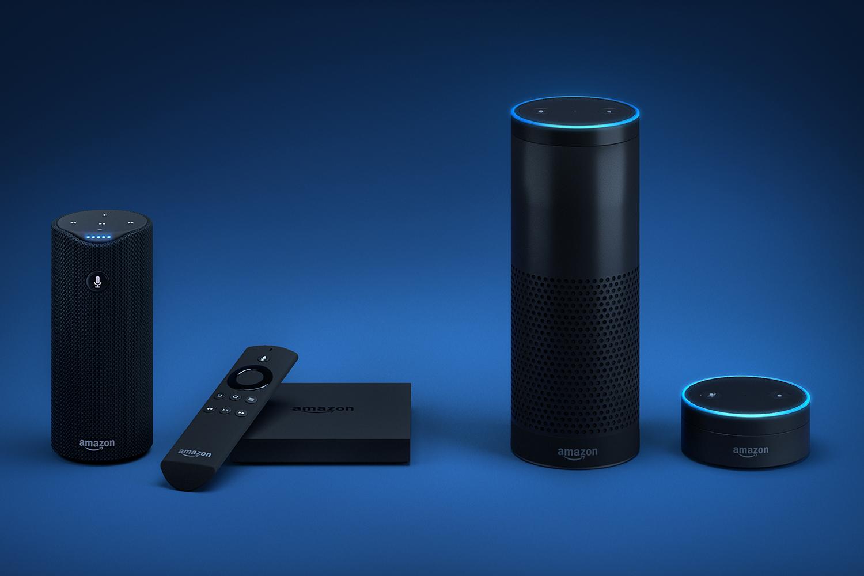 D'esquerra a dreta: Amazon Tap, Fire TV, Amazon Echo i Echo Dot. Font: Digital Trends.