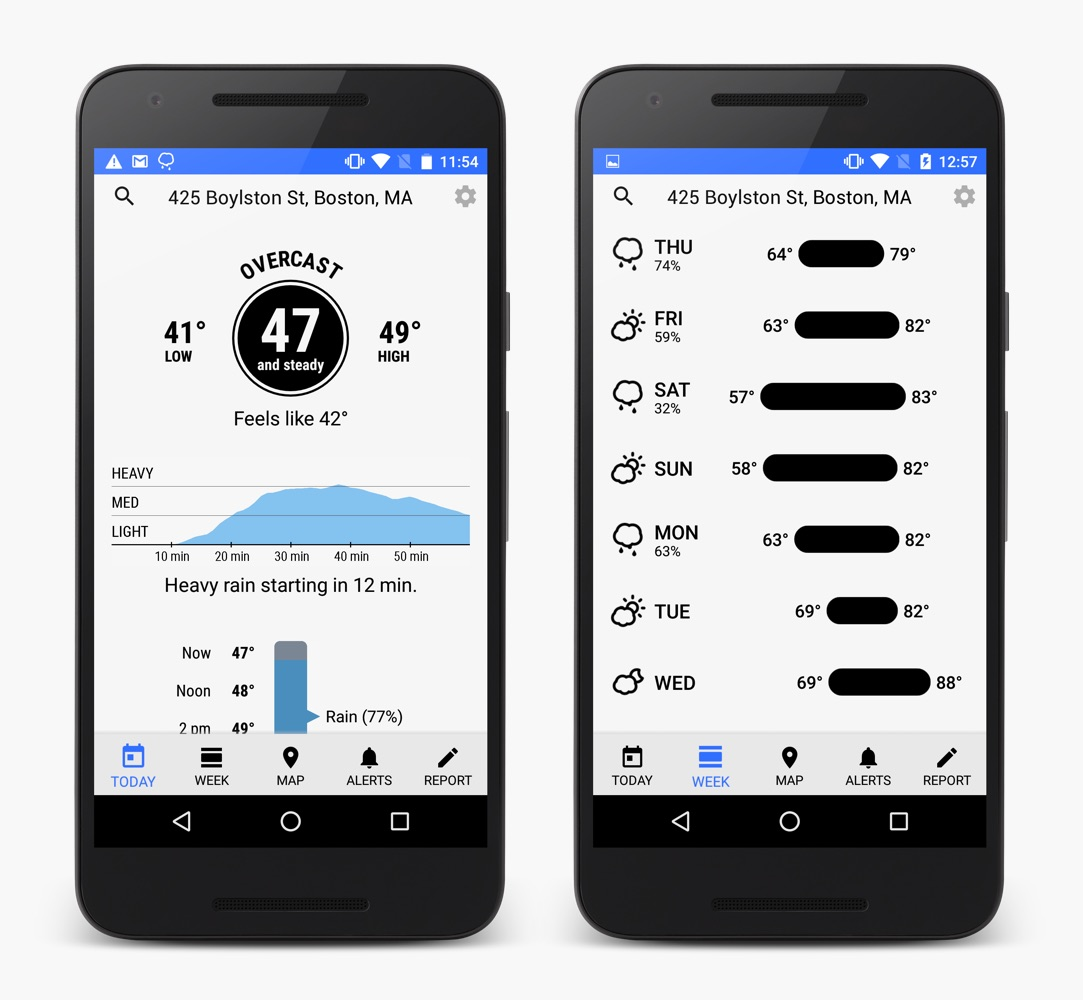 Dark Sky, Hiperlocalizado Weather App Comes to Android