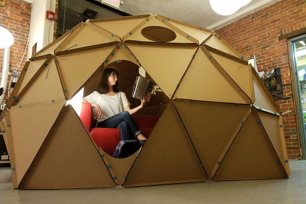 How To Build A Geodesic Dome Out Of Cardboard Digital Trends