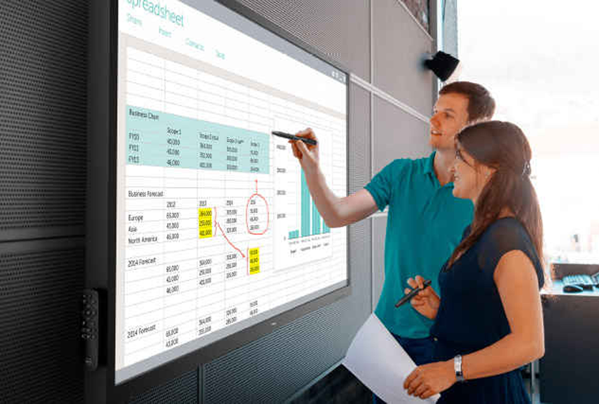 Image result for 70-INCH DELL TOUCHSCREEN IS AT HOME IN CONFERENCE ROOMS, CLASSROOMS