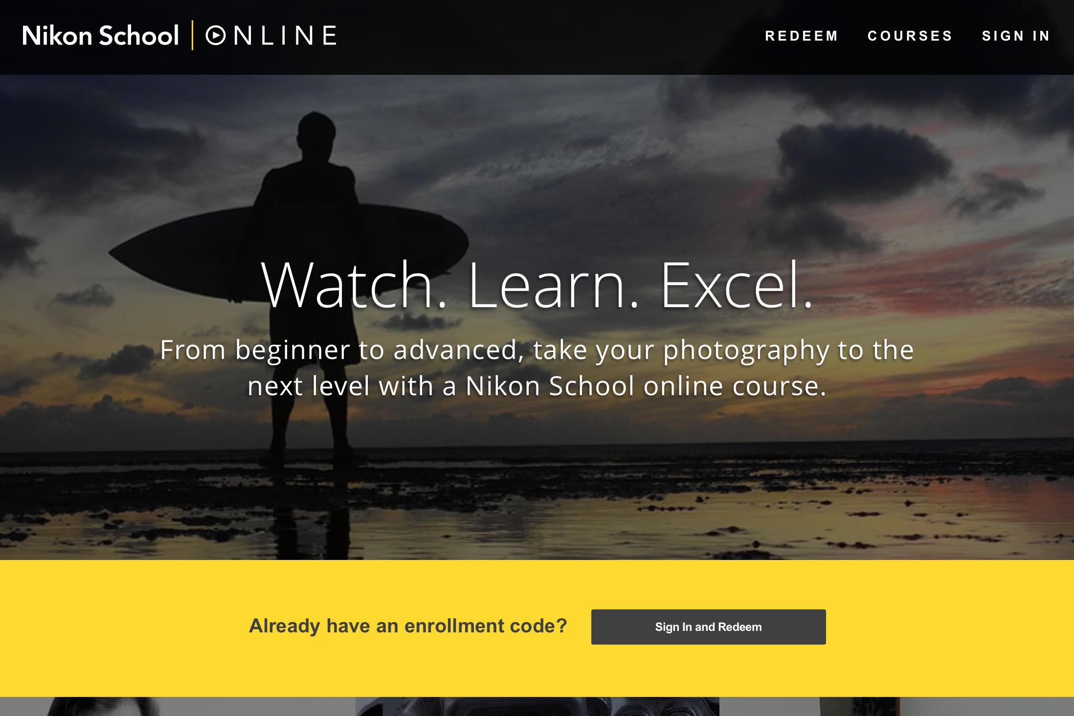 nikon screen courses launches shot