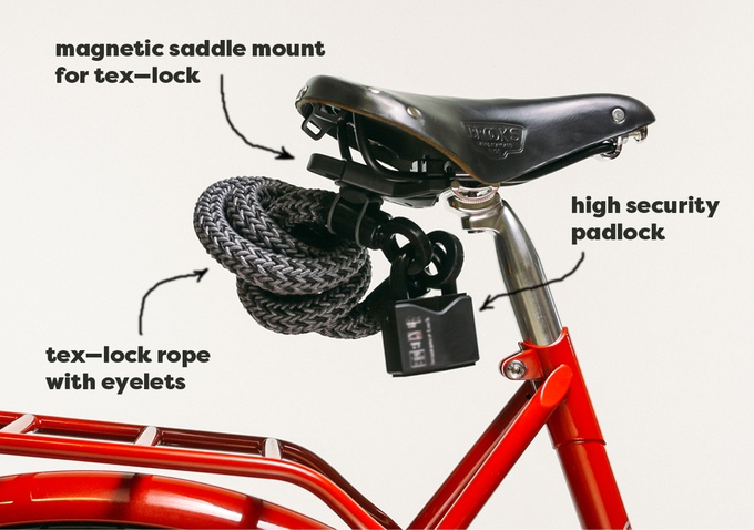 Deter Bicycle Thieves With This Textile Based Cable From