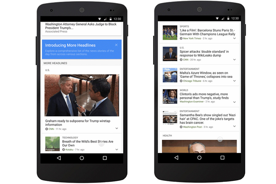 200 extra stories added to Google News with 'More ...