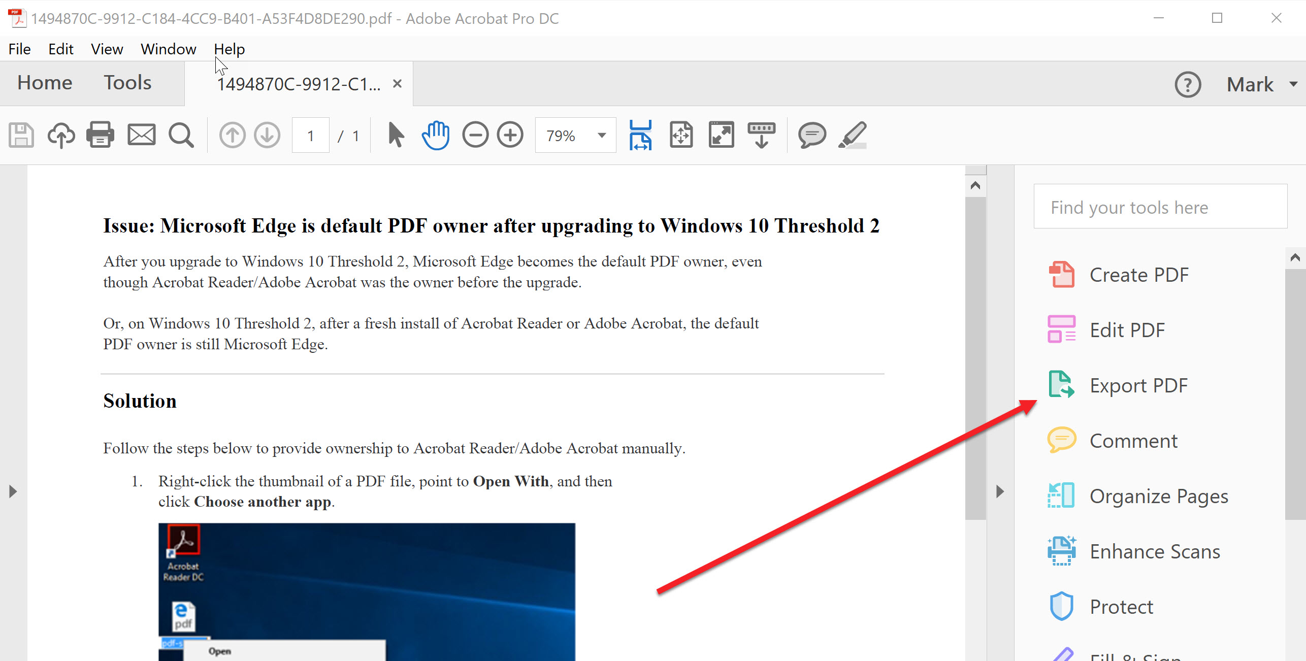 Open pdf in word with formatting memory