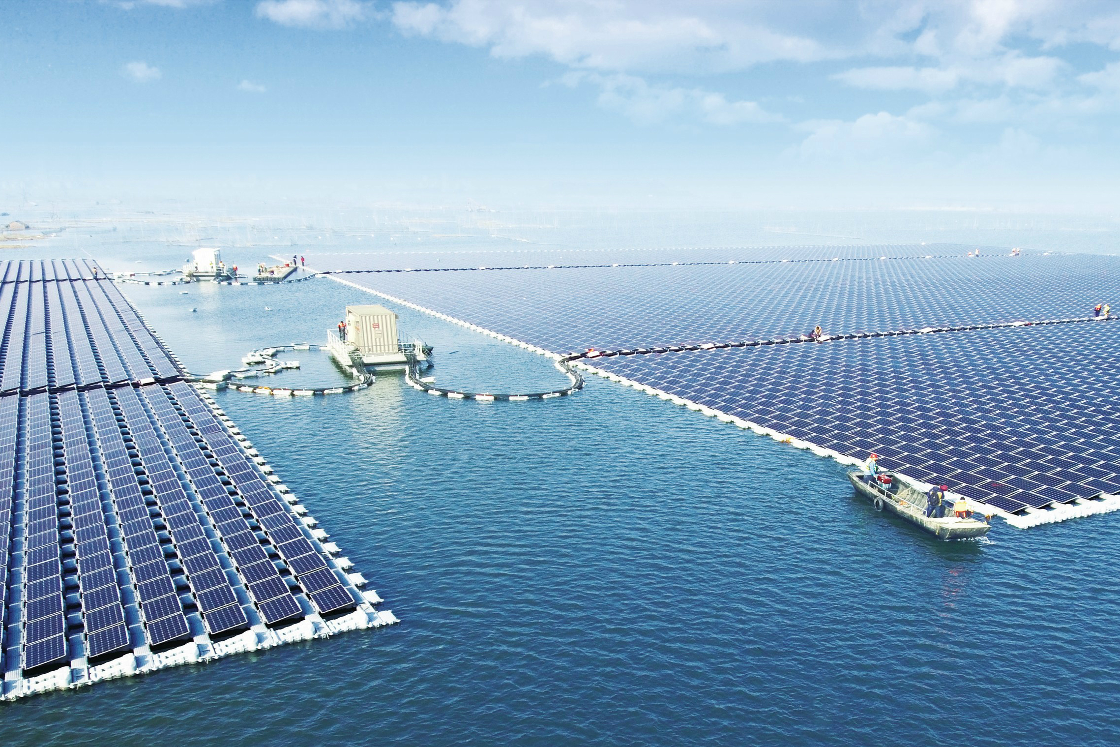The world's largest floating solar power plant just went ...