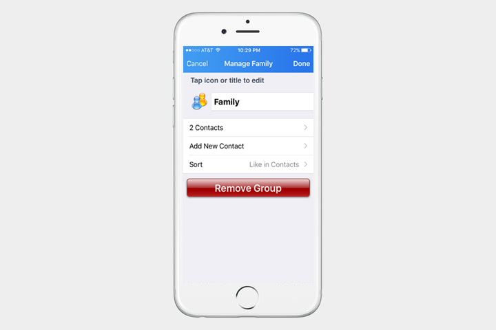 how to make a contact group on an iphone using icloud or groups