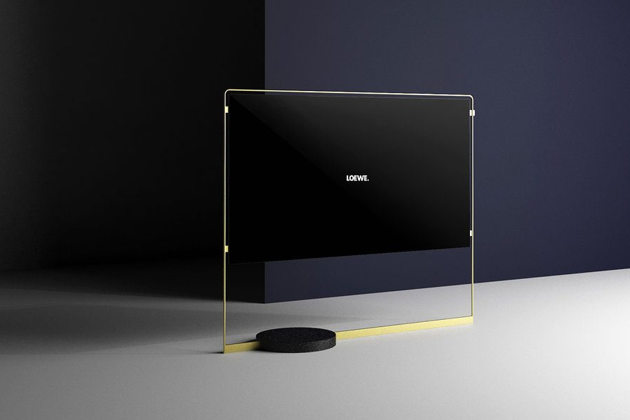 the loewe paper thin bild x oled tv is magnetically. Black Bedroom Furniture Sets. Home Design Ideas