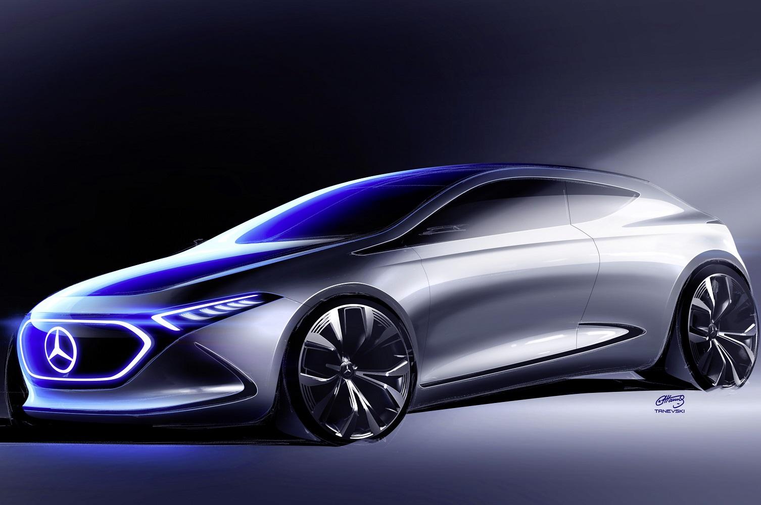 mercedes benz concept eqa cars eq frankfurt floor electrify