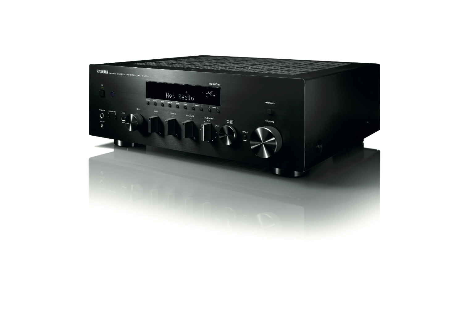 yamaha s r n803 stereo receiver will please both vinyl. Black Bedroom Furniture Sets. Home Design Ideas
