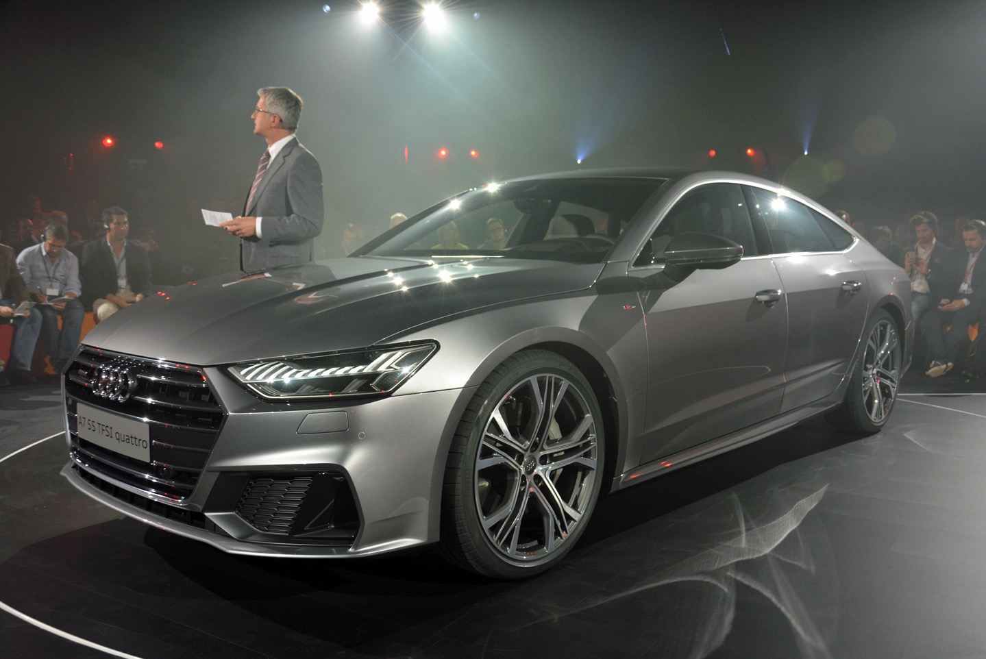 redeigned audi a7 sportback refines a familiar shape and a ton of new tech. Black Bedroom Furniture Sets. Home Design Ideas
