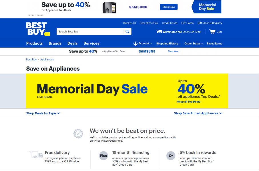 Memorial Day Kitchen Appliance Sale
