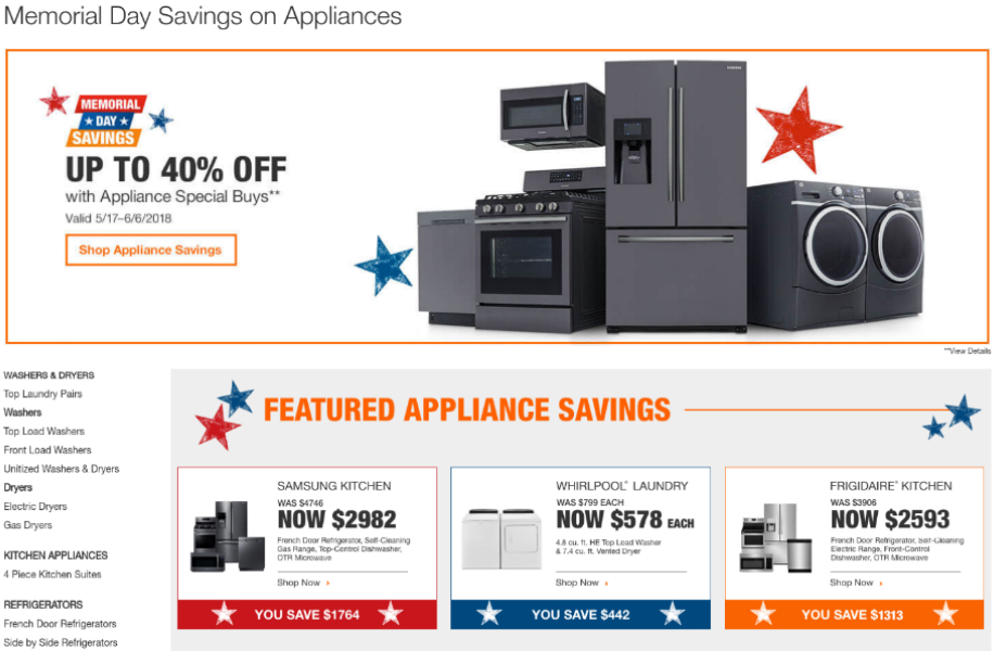 How To Find The Best Memorial Day Home Appliance Sales