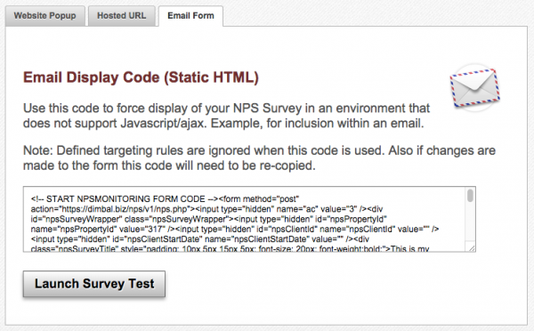 Static NPS Code
